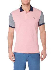 Gant Pastel Panel Short-Sleeve Polo-Shirt