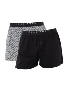 Hugo Boss 2-Pack Print and Plain Boxer