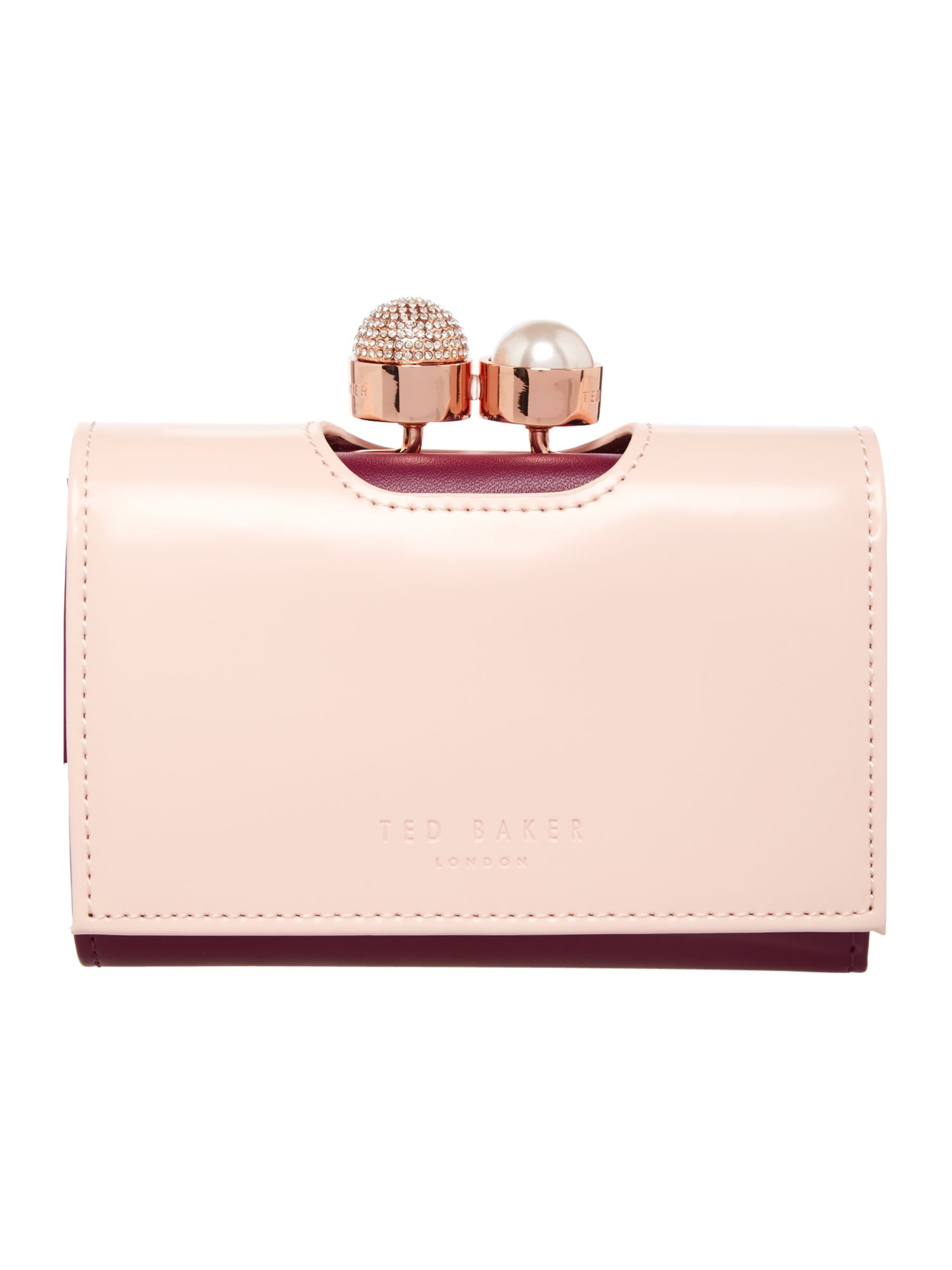 Ted Baker Emmey small flapover purse Light Pink