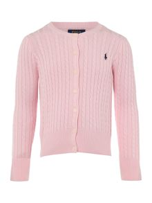 Polo Ralph Lauren Girls Long Sleeve Cable Knit Cardigan