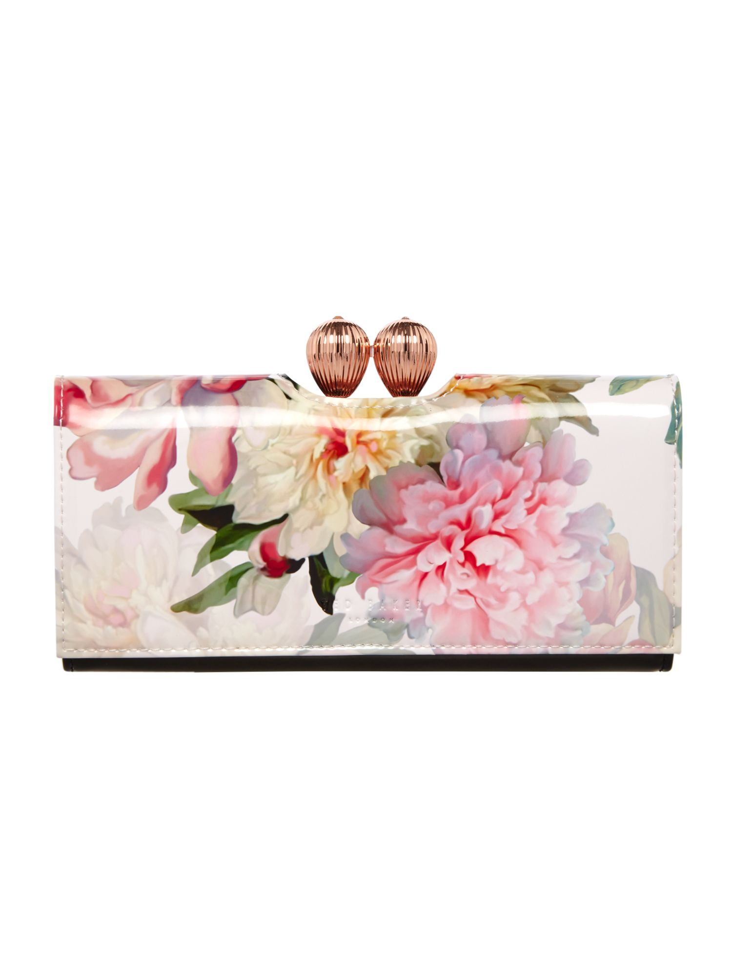 Ted Baker Jeebe floral large flapover purse Light Pink