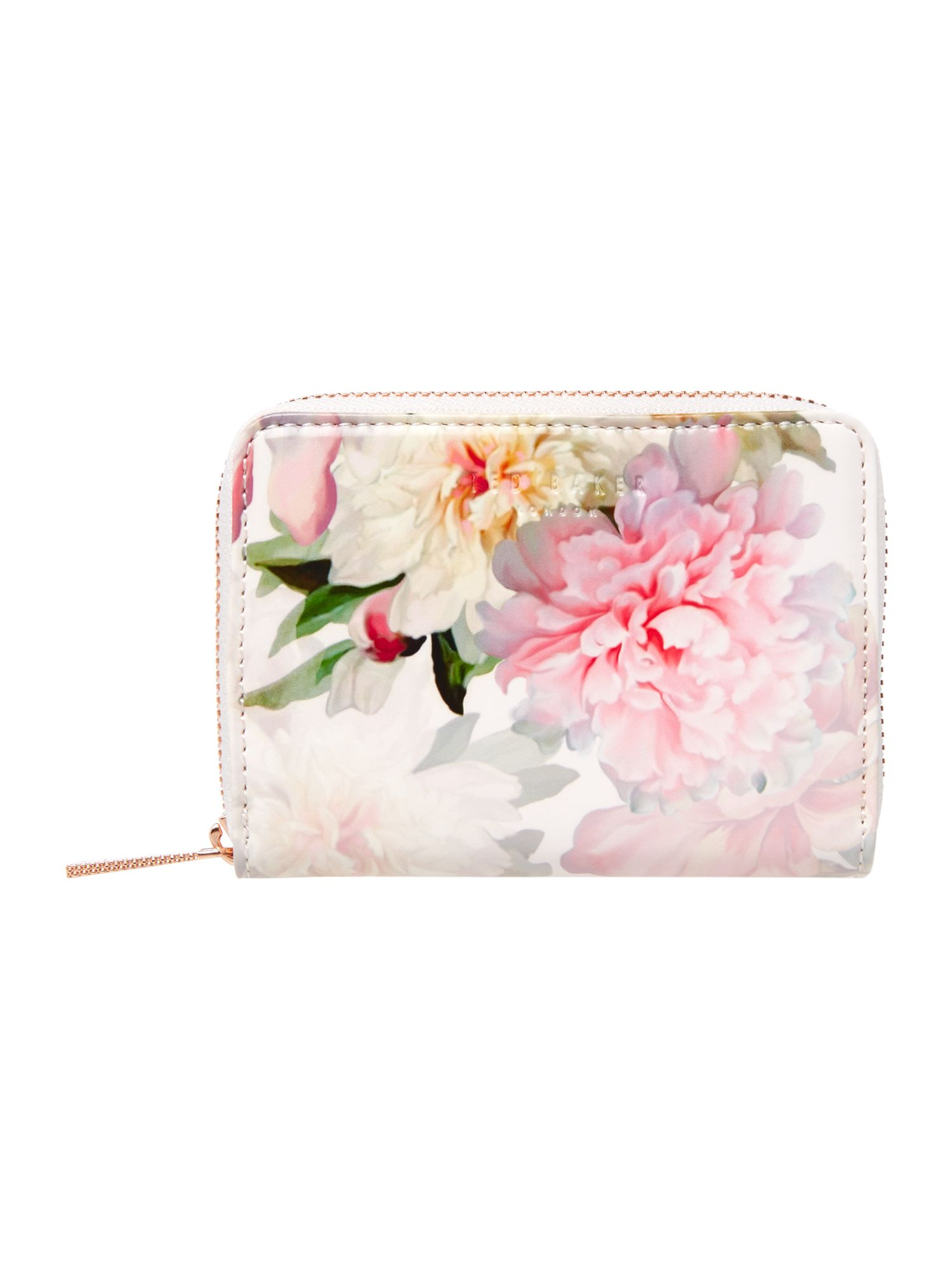 Ted Baker Chilli floral small ziparound purse Light Pink