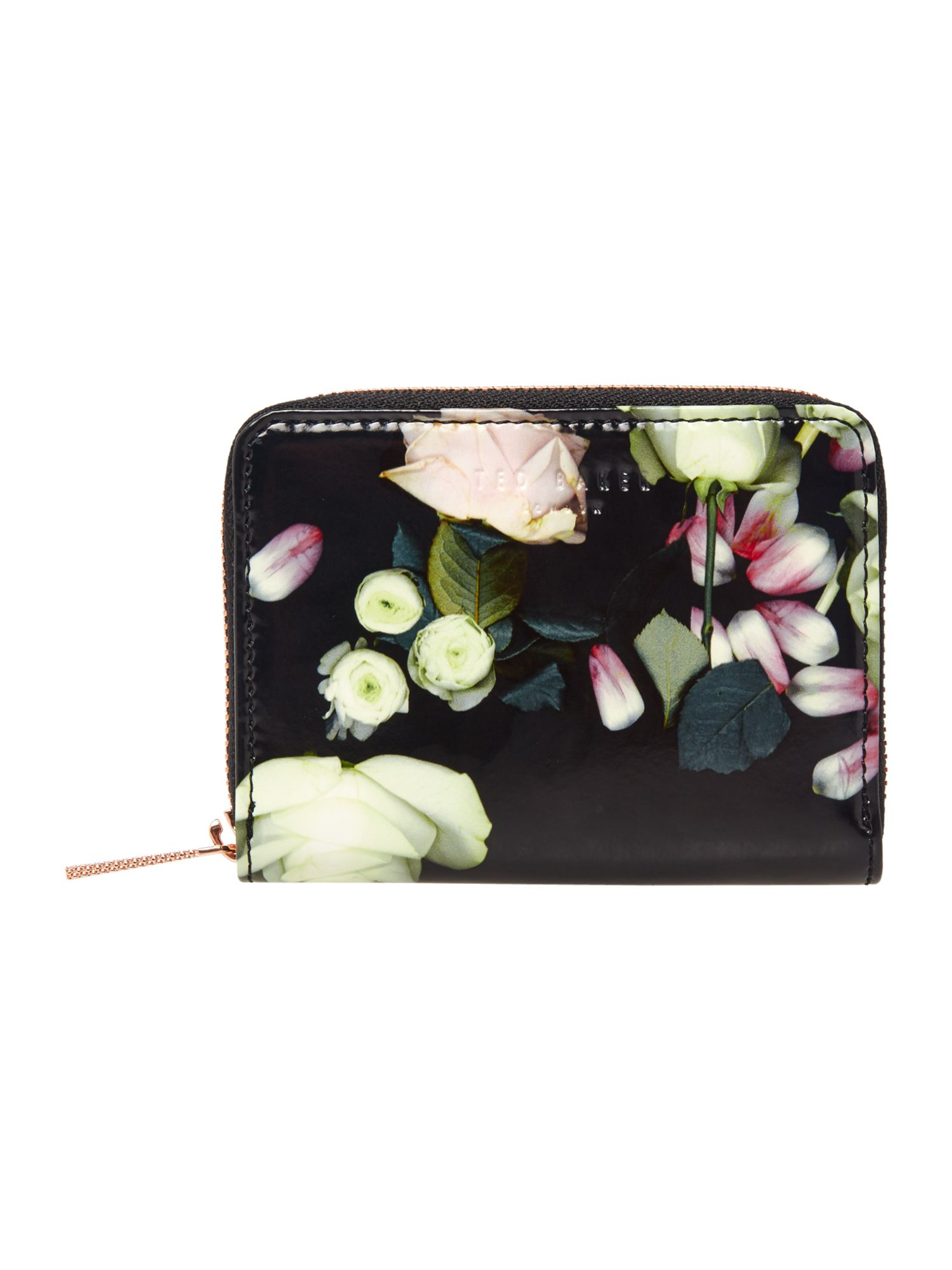 Ted Baker Mayycie floral small ziparound purse Black