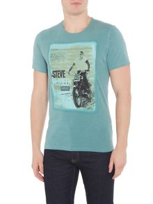 Barbour Bike print with star t-shirt