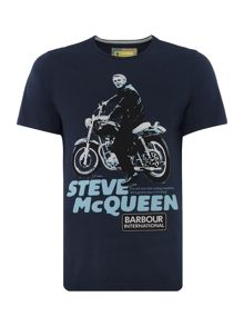 Barbour Large Steve McQueen bike print t-shirt