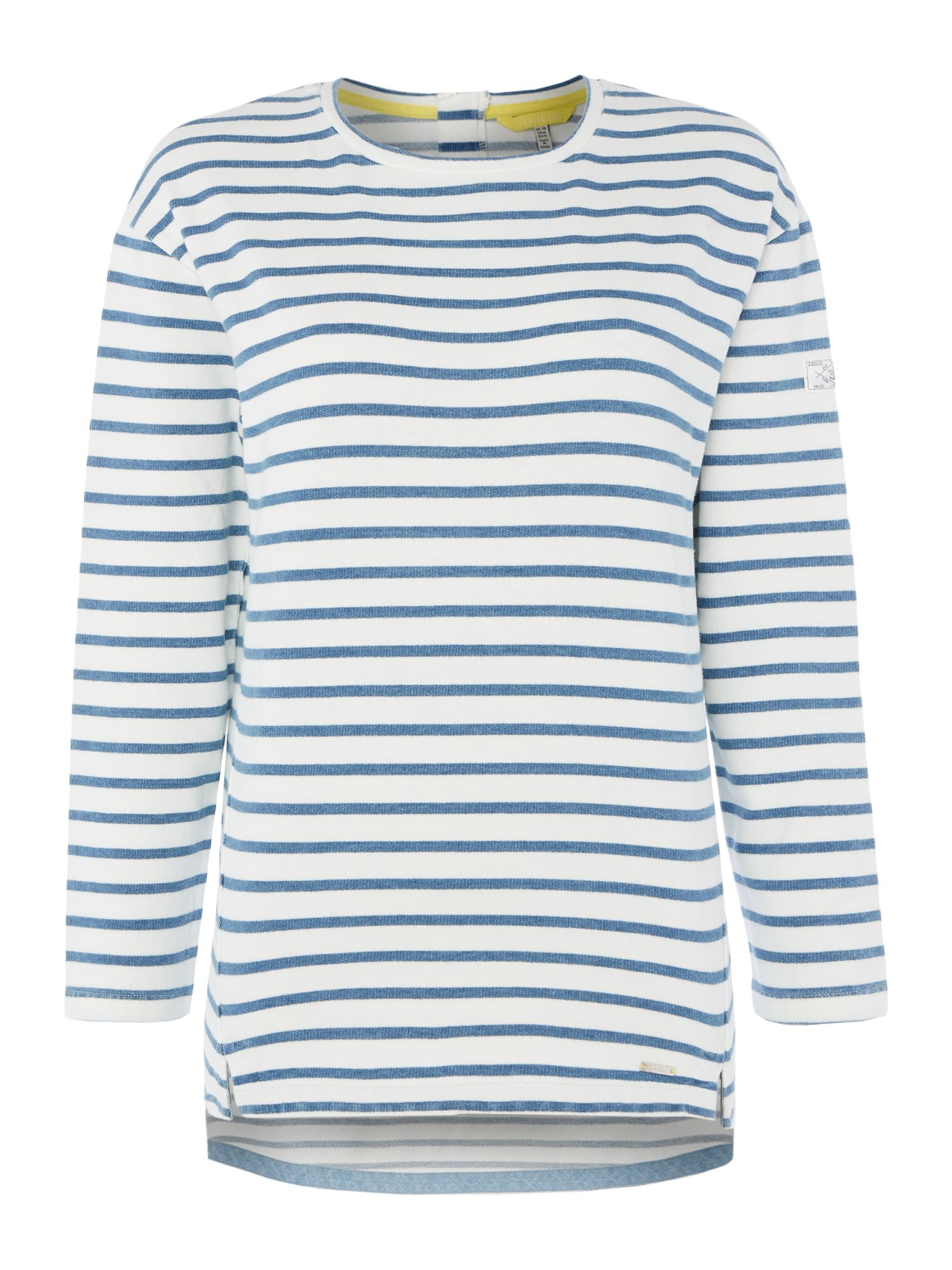 Joules Crew neck sweat with stripe, Cream