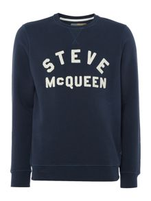 Barbour Steve McQueen varisty crew neck jumper