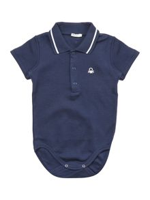 Benetton Baby Short Sleeve Polo All In One