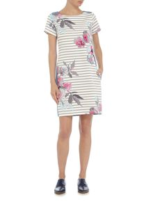Joules Jersey woven mix dress