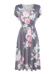 Joules Gathered midi dress