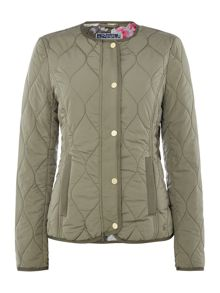 Joules Collarless quilted jacket