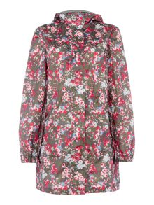 Joules Pack away polka dot parka