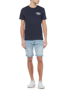 Jack & Jones Printed Logo Short-Sleeve Cotton T-shirt