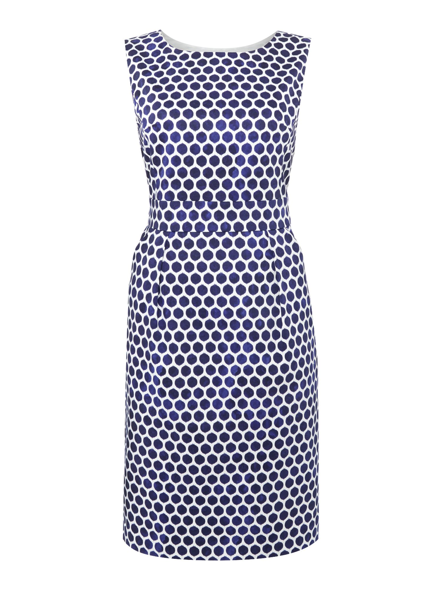Joules Sleeveless printed shift dress, Blue