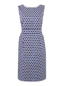 Joules Sleeveless printed shift dress