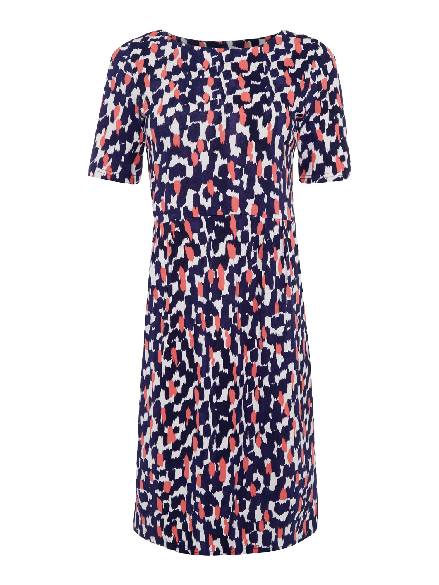 Joules Stretch pleast dress, Multi-Coloured
