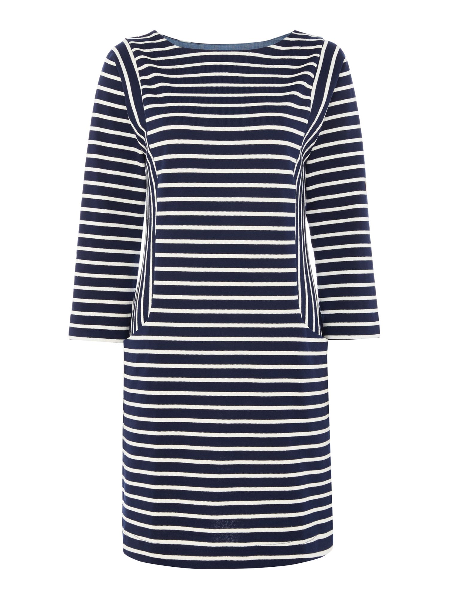 Joules Pocket bretton dress, Blue