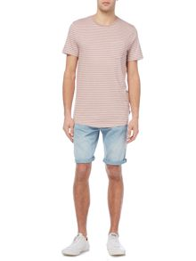 Jack & Jones Stripe Short-Sleeve Cotton Blend T-shirt