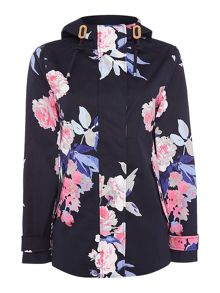 Joules Printed waterproof hooded jacket