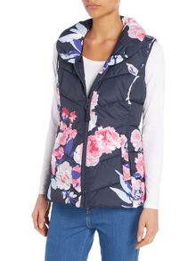 Joules Printed padded collar gilet