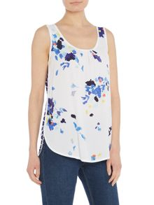 Joules Sleeveless woven mix top