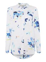 Joules Printed linen longline shirt