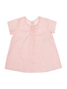 Benetton Baby Button Back Pink Tunic Top