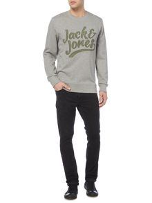 Jack & Jones Originals Large Logo Crew-Neck Sweatshirt