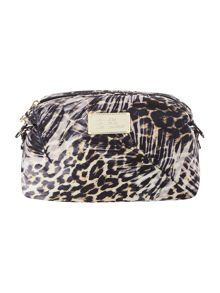 Guess Leopard print make up bag