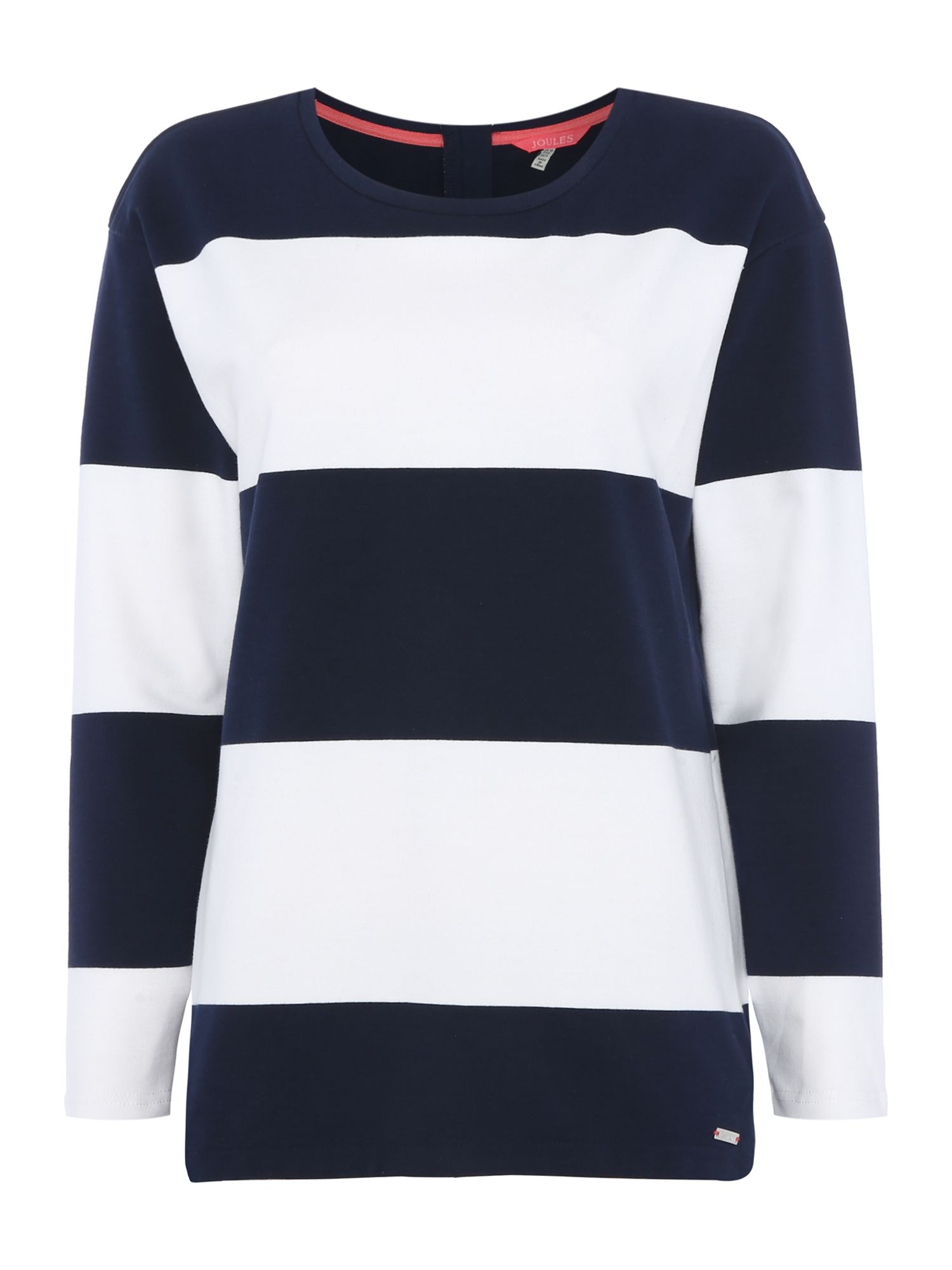 Joules Crew neck sweat with stripe, Blue