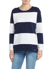 Joules Crew neck sweat with stripe