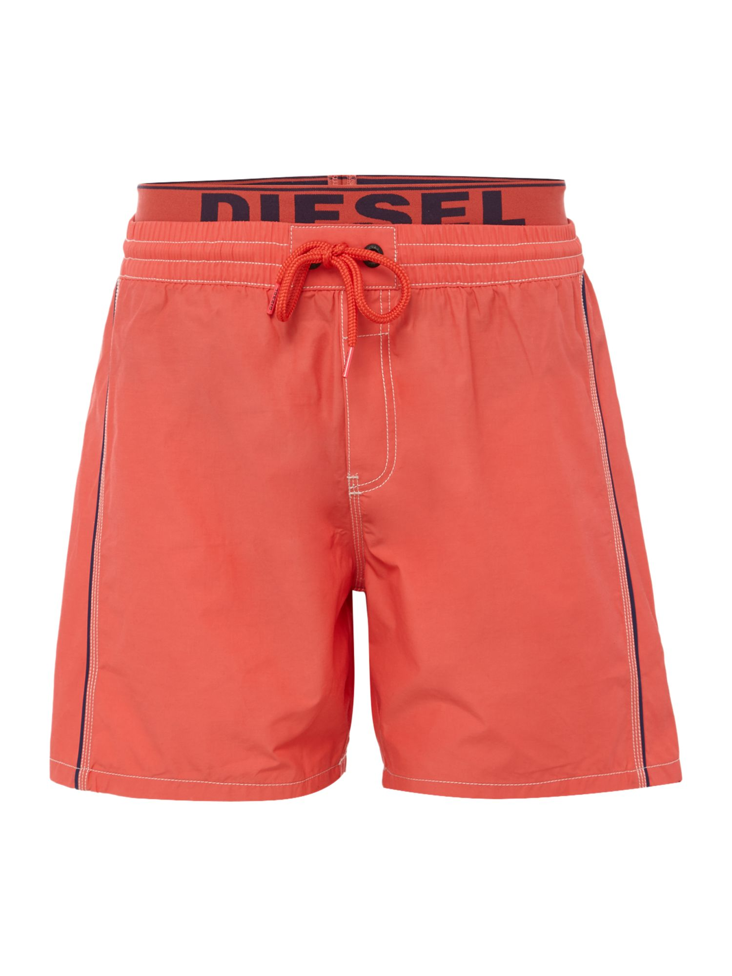 Men's Diesel Double Waistband Swim Short, Pink