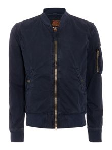 Schott Cotton bomber jacket with logo badge