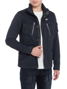 Schott 4 pocket field jacket with concealed hood
