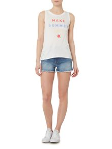 Wrangler Sleeveless summer tank top in white