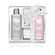 Baylis & Harding La Maison Linen Rose & Cotton Indulgent Bath Set