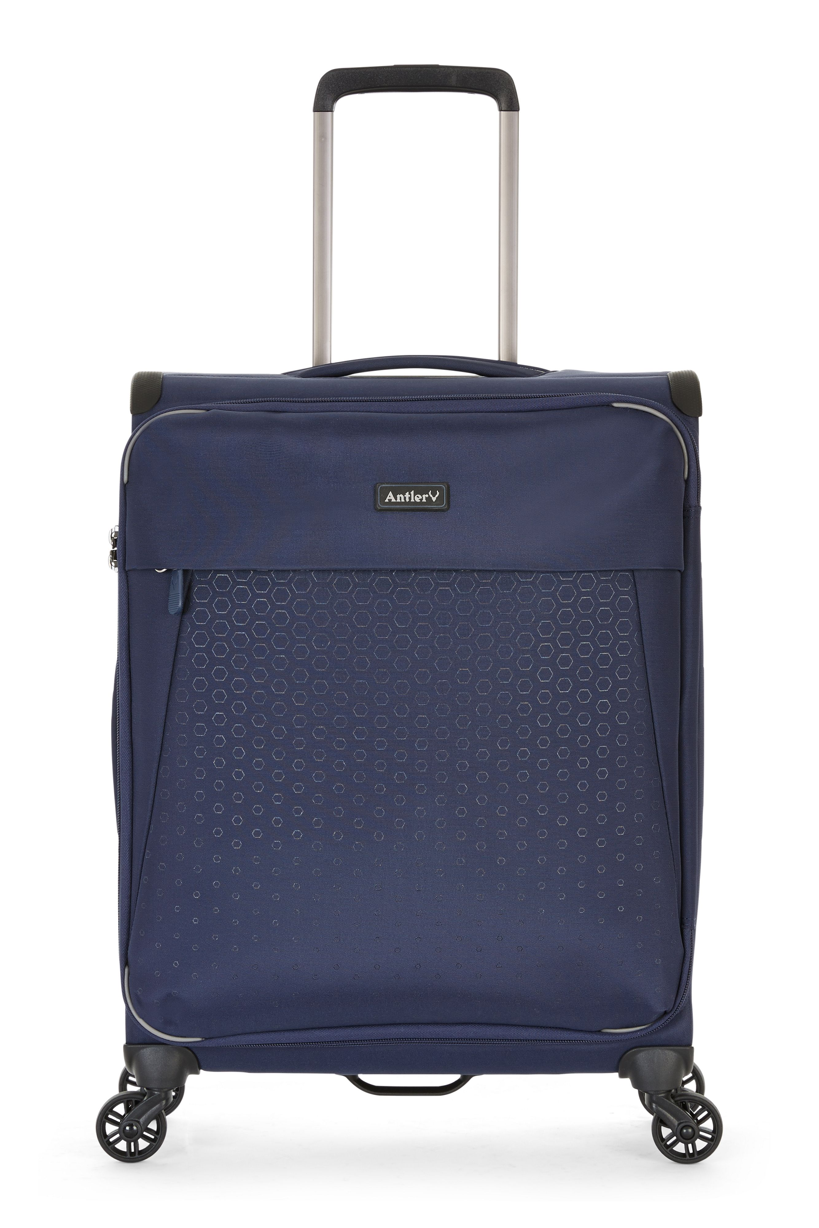 Antler Oxygen Navy 4 wheel soft cabin suitcase Navy