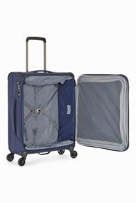 Antler Oxygen Navy 4 wheel soft cabin suitcase
