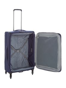 Antler Oxygen navy medium 4 wheel soft suitcase