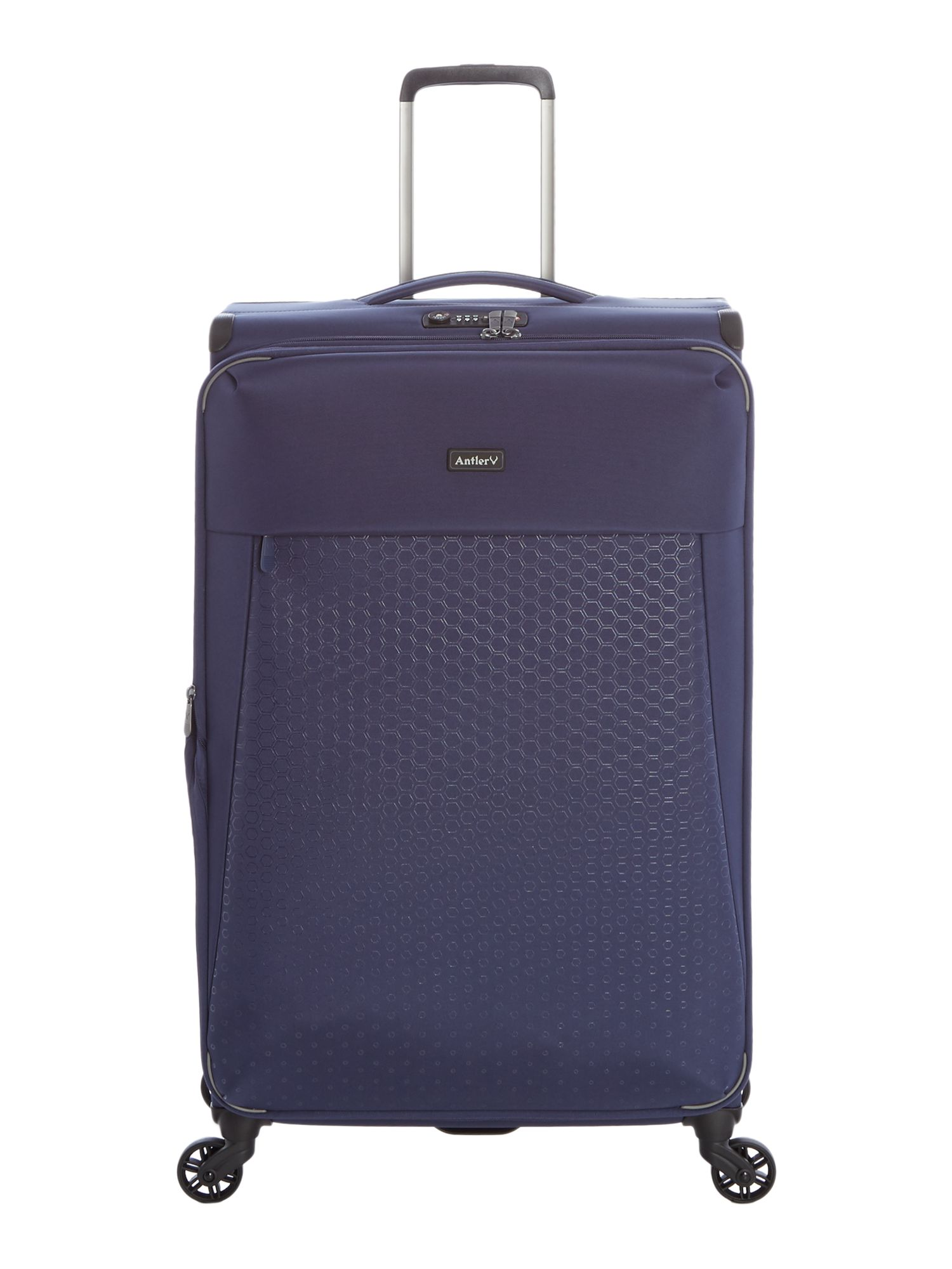 Antler Oxygen Navy 4 wheel soft large suitcase Navy