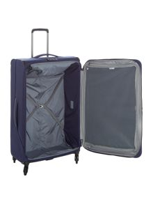 Antler Oxygen Navy 4 wheel soft large suitcase
