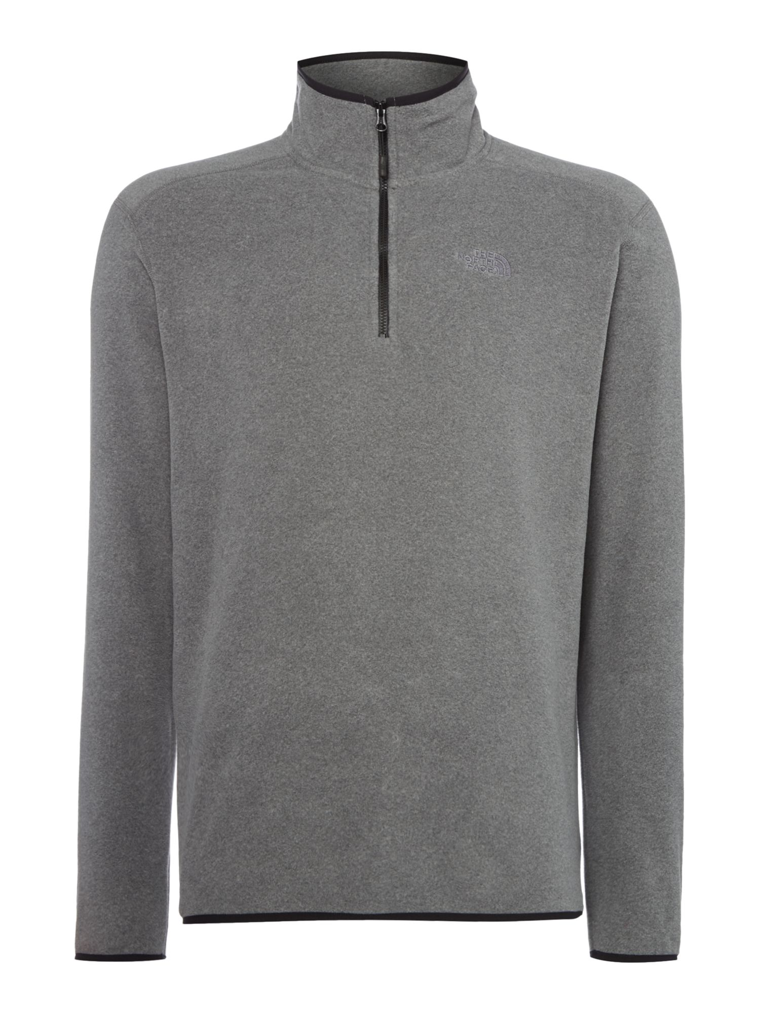 Men's The North Face 100 Glacier 1/4 zip fleece, Grey