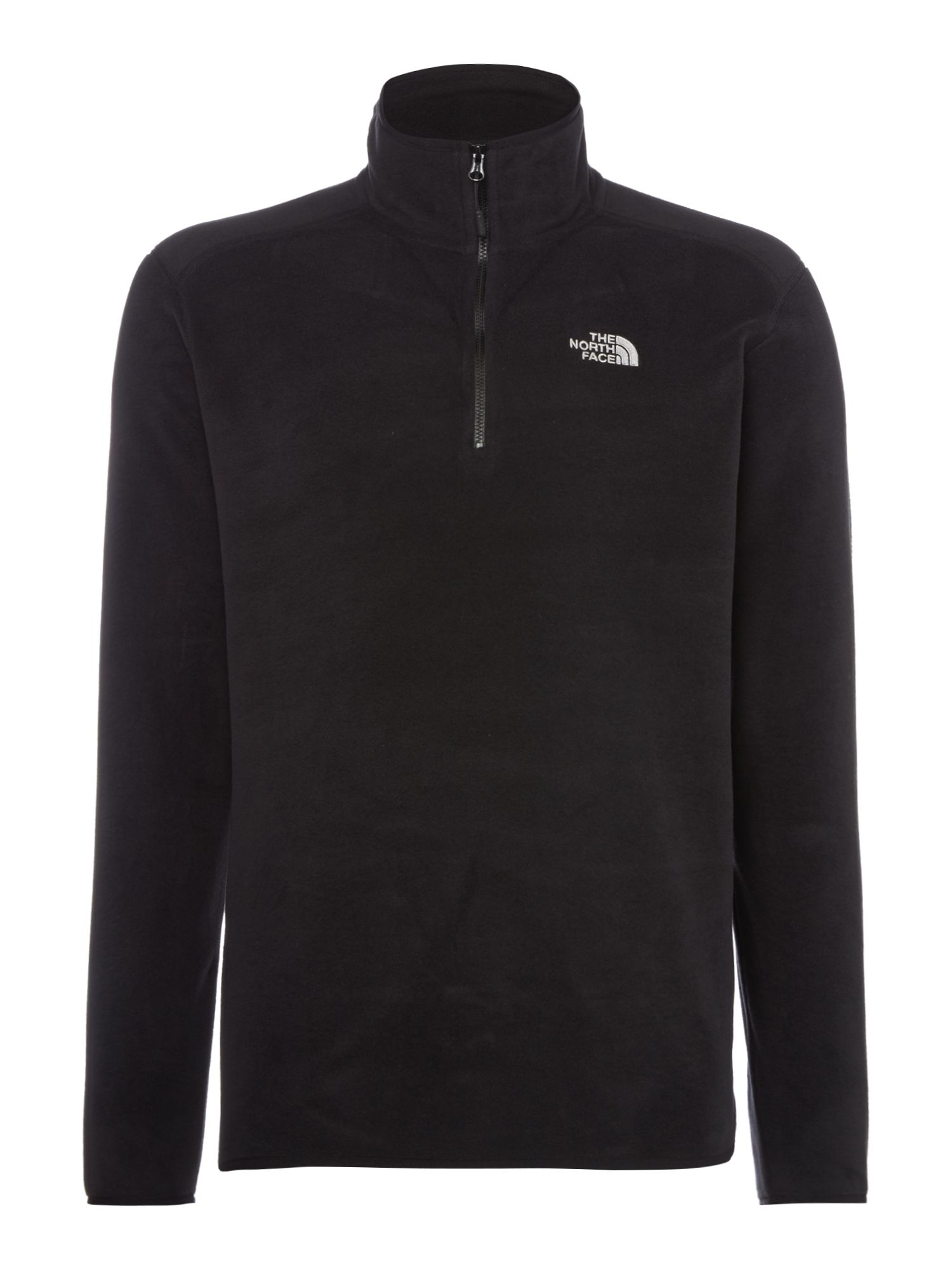 Men's The North Face 100 Glacier 1/4 zip fleece, Black