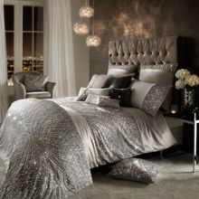 Kylie Minogue Esta silver square pillowcase