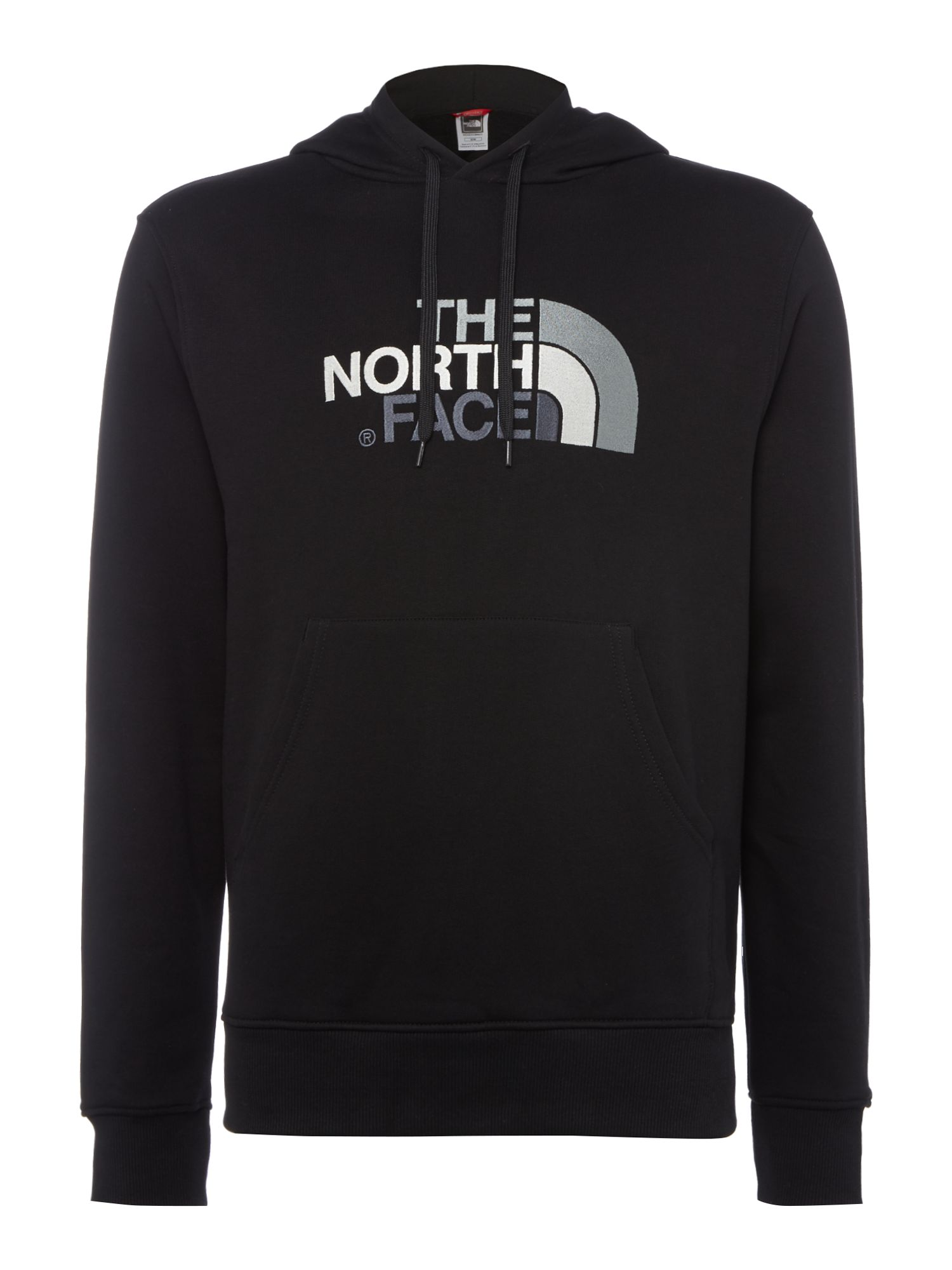 Men's The North Face Overhead large logo hoodie, Black