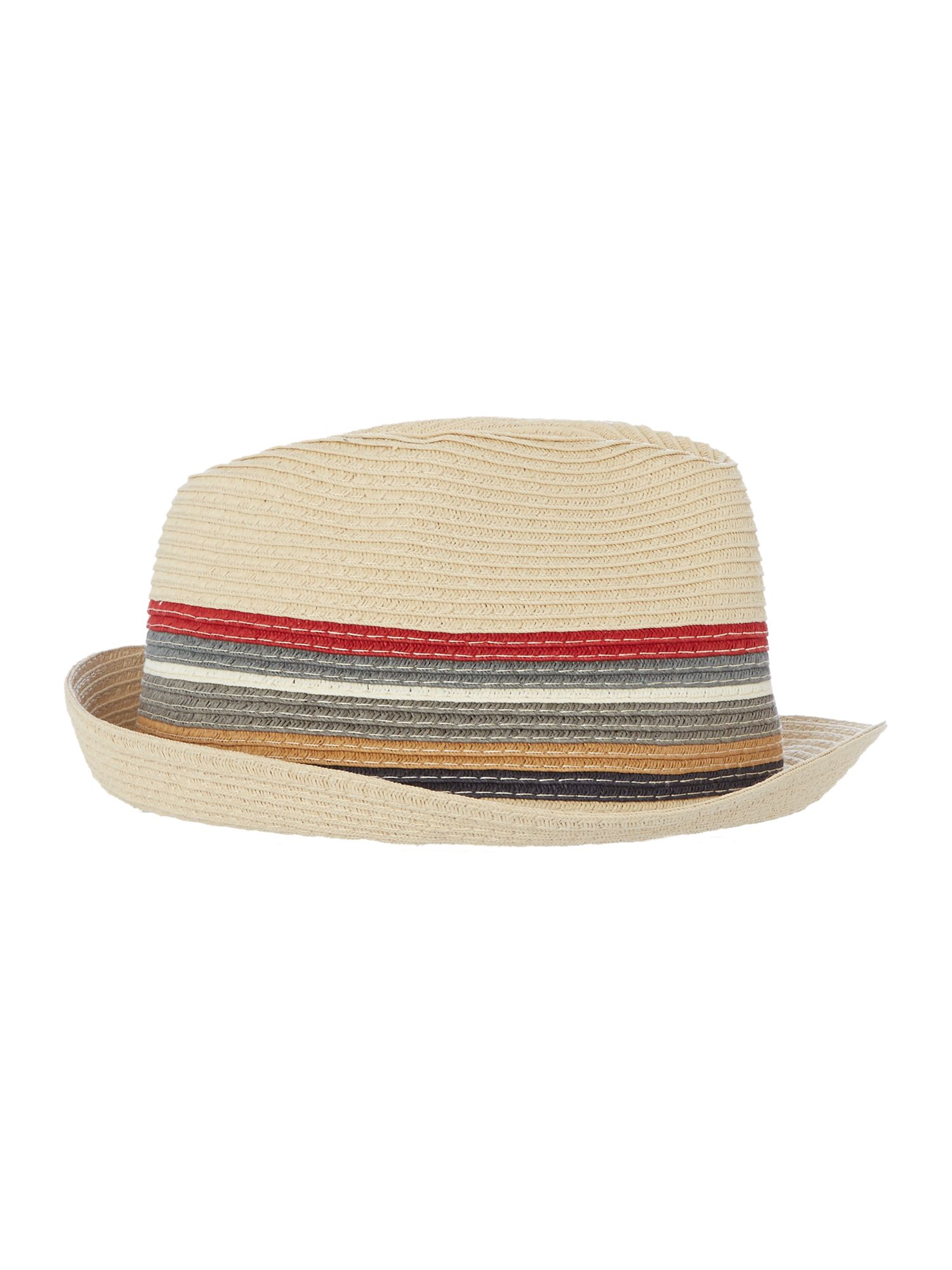 Barbour Stripe Trilby Hat Beige