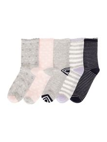 Benetton Girls 5 Pack Patterned Socks