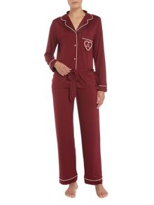 Chelsea Peers Be mine long sleeve pyjama set