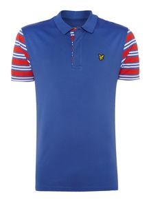 Lyle and Scott Dufftown stripe trim short sleeve polo