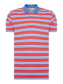 Lyle and Scott Golf dunbar all over stripe polo